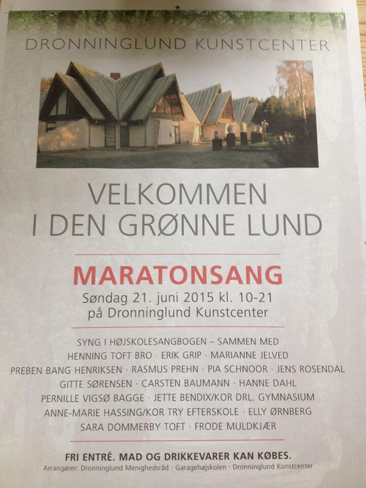 Maraton Sang i Dronninglund Kunstcenter.